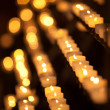 Candles in temple - Stock Photo
