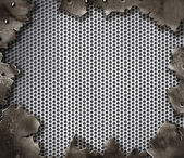 Grunge crack metal background with rivets — Stock fotografie