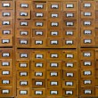 Old wooden card catalogue — Stock Photo