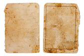 Vintage book or copybook cover isolated on white — Stock Photo