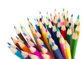 Color pencils bunch macro shot — Stock Photo