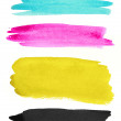 Watercolor strokes on white paper — Stock Photo #7595373