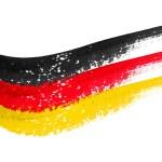 Brushstroke flag Germany — Stock Photo