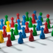 Group of multi-colored to represent social network, diver — Stock Photo