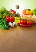 Healthy food on table — Stock Photo