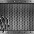 Stock Photo: Metal damaged grate background