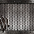 Metal damaged grate background — Foto de stock #7954135