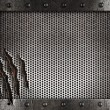 Foto de Stock  : Metal damaged grate background