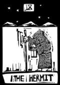 Tarot Card Hermit — Stock Vector