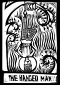 Tarot Card Hanged Man — Stock Vector