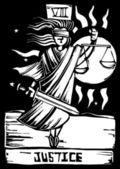 Tarot Card Justice — Stock Vector