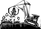 Protest Crane — Stock Vector