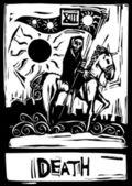 Death Tarot Card — Stock Vector