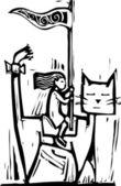 Cat cavalry — Stock Vector