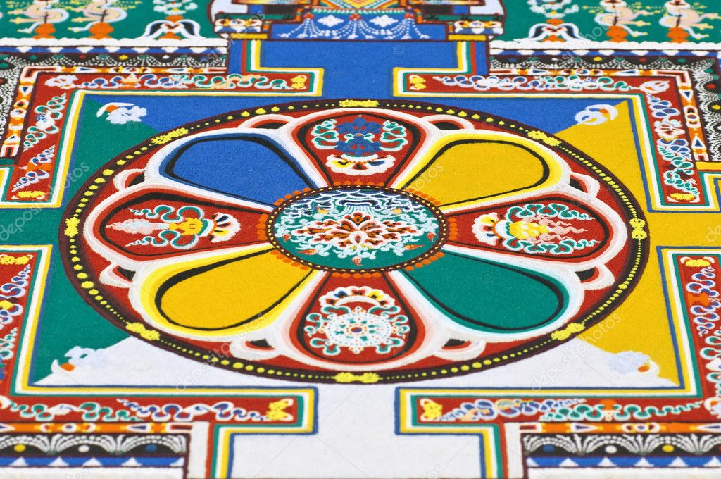 Part of sandy mandala — Stock Photo #6886506
