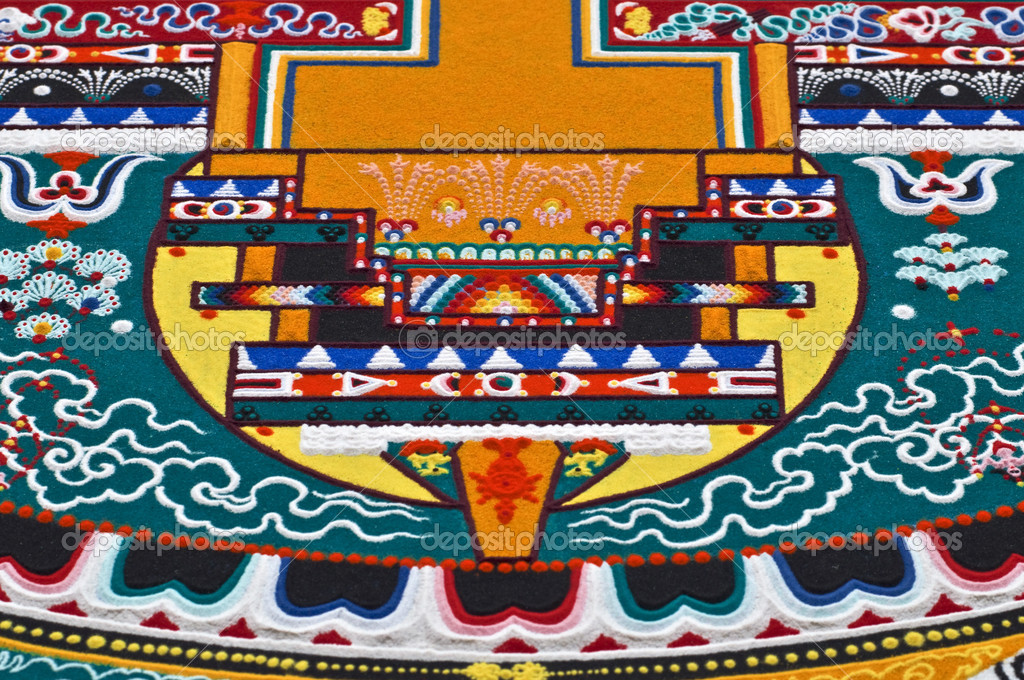 Part of sandy mandala — Stock Photo #6886687