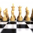 White chess game pieces — Stock Photo #6907266