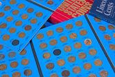 ペニー硬貨コレクション — ストック写真