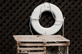 Crab Trap And A Buoy — Stock Photo