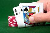 Blackjack Winner — Stock Photo