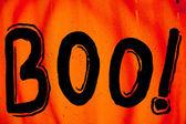 Halloween boo teken — Stockfoto