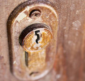 Keyhole of old door — Stock Photo