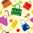 Royalty-Free Stock Vector Image: Glamour Bag Pattern