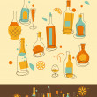 Bottle Set - Stock Vector