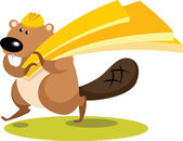 Beaver Carpenter — Stock Vector