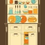 armario de la cocina — Vector de stock