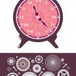 Clock and Gears — Stock Vector