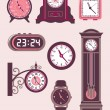 Royalty-Free Stock Vector Image: Clock Set