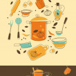 Kitchen Set - Stock Vector