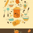 Royalty-Free Stock Immagine Vettoriale: Kitchen Set