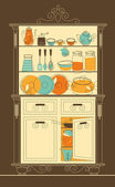 Kitchen cupboard — Stock Vector