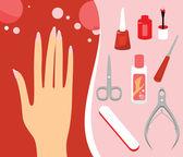 Manicure Set — Stock Vector