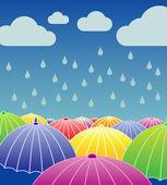 Jour de pluie — Vecteur