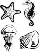 Vida marina — Vector de stock