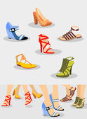 Shoes Set — Stock Vector