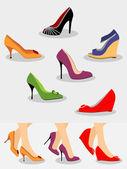Conjunto de sapatos — Vetorial Stock