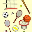 Sport Equipment — Stock Vector