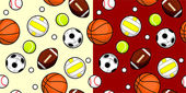 Sport Ball Seamless — Stock Vector