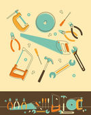 Tools Set — Vettoriale Stock