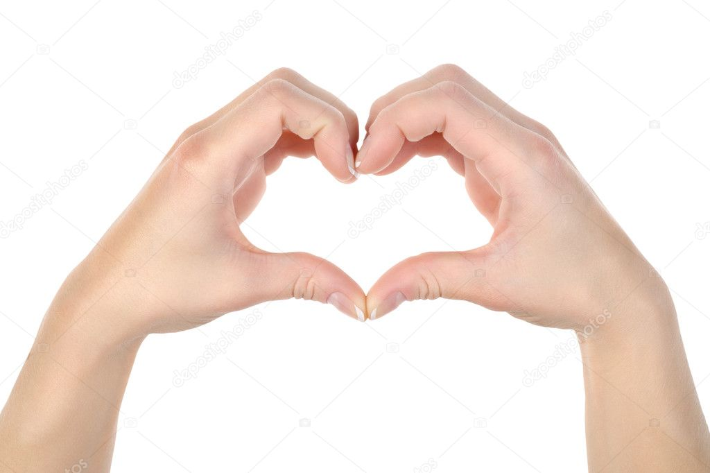 Love: Hands making a heat shape isolated on white background — Stock Photo #7393655