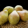 Pears on black — Stock Photo