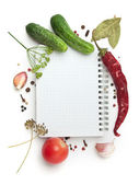 Notebook mit rezepten — Stockfoto