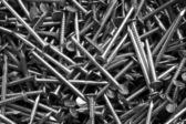 Fondo de clavos de carpinteria — Foto de Stock