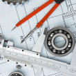 Tools and mechanisms detail — Stock Photo