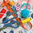 Sewing supplies — Foto de Stock