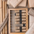 Still Life in a warehouse with abacus — Stockfoto #7141090